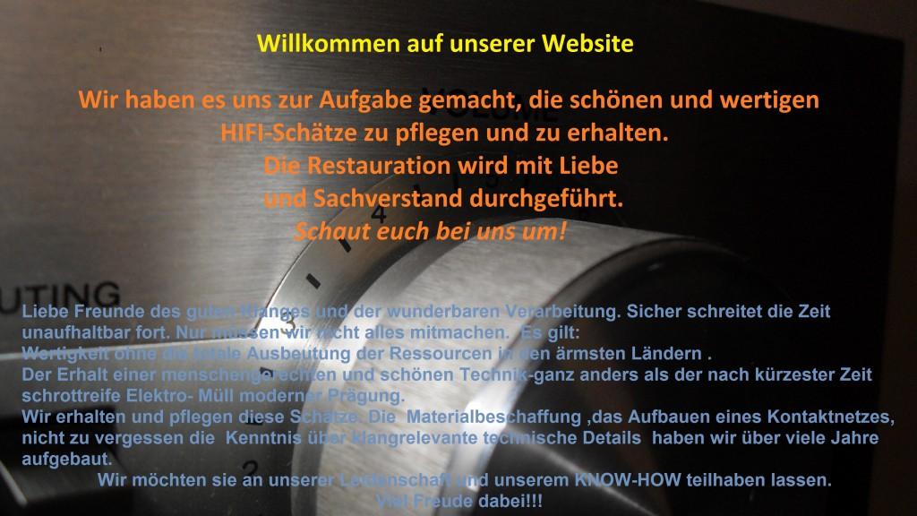 WILLKOMMEN AUF UNSERER WEBPRESSENS HIFI-CLASSIC-REPARATUR